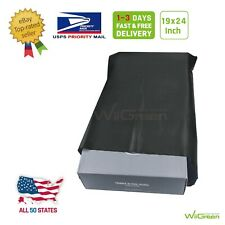 #8 19 x 24 inch 2.17 MIL Poly Mailers Shipping Envelopes Packaging Bags, Black
