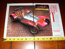 CATERHAM  SUPER SEVEN - LOTUS 7 - ORIGINAL 1988 ARTICLE