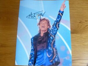 """MICK JAGGER (ROLLING STONES)   AUTOGRAPHED PHOTOGRAPH SIZE 10"""" X 8"""" WITH C.O.A."""