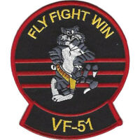 US Navy VF-51 Fighter Squadron F-14 Tomcat Patch NEW!!!