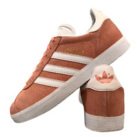 Adidas Gazelle Women's Shoes Size Uk 5 Coral Suede Casual Sports Trainers EUR 38