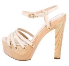 29341ff73  695 Fendi Beige Suede Platform Sandals Sz 40 Euro US 10