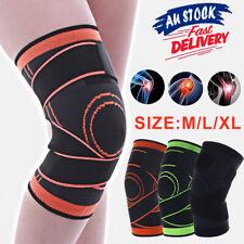 3D Knee Brace Sports Sleeve Support Breathable Weaving Jogging Running Leg