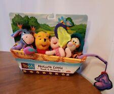 Nature Lovin Winnie Pooh  and Friends Fishing Plush Set Vintage Mattel 1998 RARE