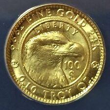 1/10 oz .999 Gold Bullion 2010 $100 Indian Eagle Smooth Daniel Carr ANACS MS-68