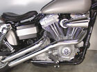 "Radii Chrome Drag Sweeper Exhaust System Pipes 2 1/4"" 1991-2017 Harley Dyna FXD"
