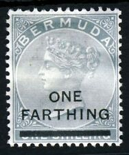 BERMUDA Queen Victoria 1901 One Farthing Surcharge on 1s. Dull Grey SG 30  MINT