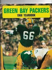 GREEN BAY PACKERS 1968 YEARBOOK EXCELLENT CONDITION - RAY NITSCHKE COVER