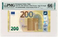 EUROPEAN UNION (ITALY) banknote 200 Euro 2019 PMG MS 66 EPQ Gem Uncirculated