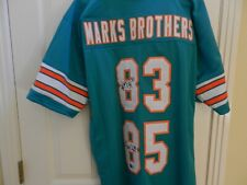 "Mark Clayton & Mark Duper Signed ""Marks Brothers"" XL Dolphins Jersey (TRISTAR)"