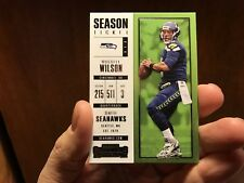 4x NFL RUSSELL WILSON & THOMAS RAWLS SEAHAWKS 2017 SEASON TICKET N/M!! BID NOW!!