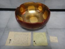 Japanese gold leaf dish platter gold foil plate Kinpaku Kanazawa beautiful Japan