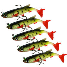 Lot 5Pcs Fishing Lures Weever Fish Bass Tackle Hooks Artificial Baits Crankbait