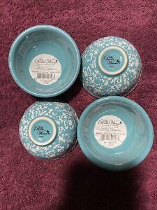 The Pioneer Woman Splatterware Teal Condiment Dip Bowls Set Of 4