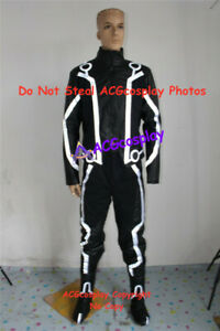 Tron Legacy Sam Flynn Cosplay Costume with fluorescent strip incl boots covers
