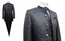Hochzeit Cutaway Anzug 5-teilig Jacquard Gr.54 Schwarz