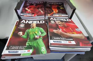 Liverpool FC 2012/13 Season - All programmes excluding European Away fixtures