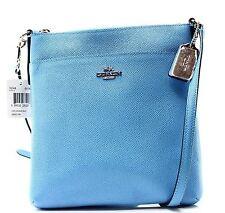 Coach NEW Blue Azura Embossed Pebble Leather NS Swingpack Bag Purse $145 031