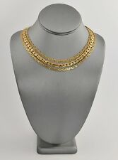 VINTAGE Jewelry EARLY 1900's ART DECO ERA MULTI CHAIN NECKLACE FANCY CLASP - 14""