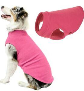 "Gooby Stretch fleece PINK Dog Vest 5XL, 32"" chest, 25"" length, warm,winter"