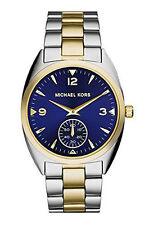 MICHAEL KORS MK3343 CALLIE BLUE DIAL TWO-TONE UNISEX WATCH NIB $225