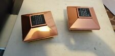 "4X4 Inch Solar Post Cap Lights (Lot Of 2) Actual Size: 3.5"" X 3.5"""