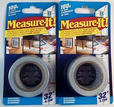 Lot of 2 Measure-It Measuring Tape 1-in x 32-ft Multi-Surface Painters Tape