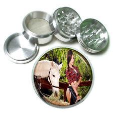 Farmers Daughter Pin Up Girls D4 63mm Aluminum Kitchen Grinder 4 Piece Herbs