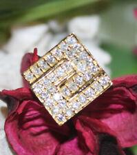 0.80CT NATURAL DIAMOND 14K YELLOW GOLD WEDDING ANNIVERSARY TIES PIN