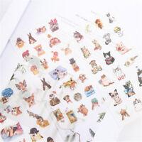 6Pcs Cute Cat Adhesive Sticker Diy Decor Diary Stationery Sticker Gift Kawaii ^S