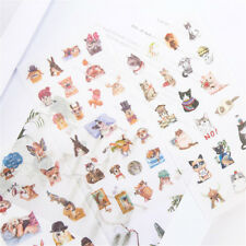 6pcs cute cat Adhesive Sticker DIY Decor Diary Stationery Sticker Gift cute*v*