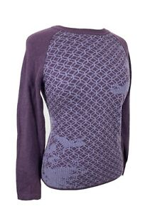 Women's prAna Sweater Knit Wool Blend Purple XS