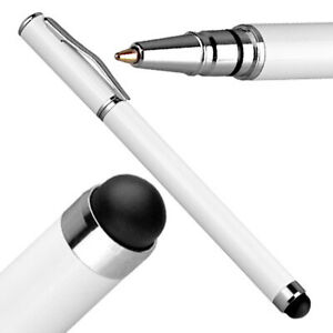 Eingabestift weiß mit Kuli f Huawei nova 9 Touch Screen Stylus Pen Handy Stift