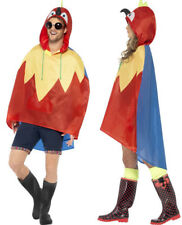 Smiffys Adult Unisex Parrot Party Poncho One Size Color Red