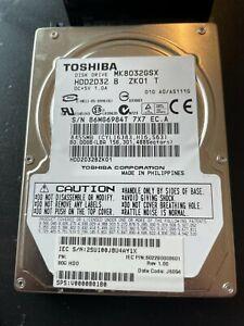 "Toshiba MK8032GSX 80GB,Internal,5400 RPM,6.35 cm (2.5"") (HDD2D32) Desktop HDD"