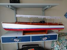 Scratch built radio controlled live steam Edwardian Windermere launch/boat
