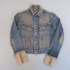 Ladies LEE Indigo Dark Blue Denim Trucker Jacket Medium #D2410