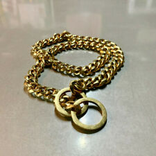 26in Dog Chain Stainless Steel Gold Collar