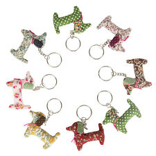 Dachshund Vintage Fabric Keyring Birthday Gift Collectable By Sass & Belle