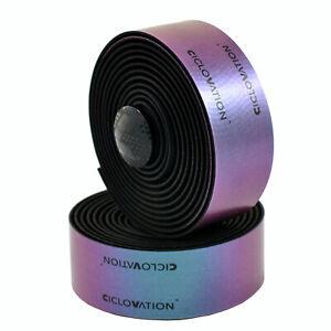 CICLOVATION Premium Leather Touch - Chameleon Bar Tape Handlebar Tape , Purple