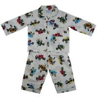 Boys Traditional Cotton Tractor Pyjamas Powell Craft Age 1-2, 2-3, 4-5, 6-7, 8-9