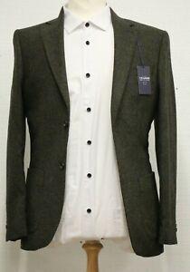 Men'sT.M.Lewin Hopkins Forest Green Wool Jacket (36R)..Ref: 7582