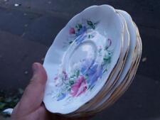 Vintage Royal Albert Bone China Friendship Sweet Pea five saucers