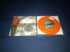 "Polar Bear Club The View The Life 7"" Orange Vinyl Record Bridge Nine Records"