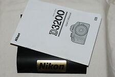Genuine Nikon D3200 fotocamera reflex digitale guida utente originale manuale di istruzioni