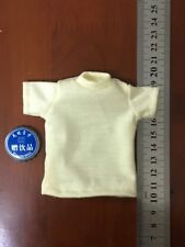 """1/6th Scale Yellow Man T-shirt Model For 12"""" Male Body Action Figure"""