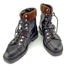 Gucci boots Black Brown Woman Authentic Used Y6396