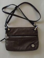 Kipling Brown Patent Combo Lani Hobo Shoulder Crossbody Bag