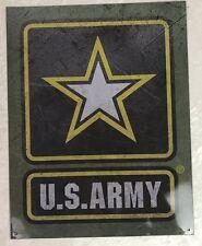 Army Metal Tin Sign US Military Man Cave Decor Bar 12.5 x 16