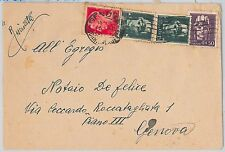 ITALIA - storia postale: affrancatura mista REGNO / LUOGOTENEZA du busta 1945